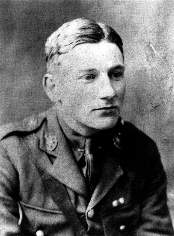 Edmund Blunden in his soldiers' uniform